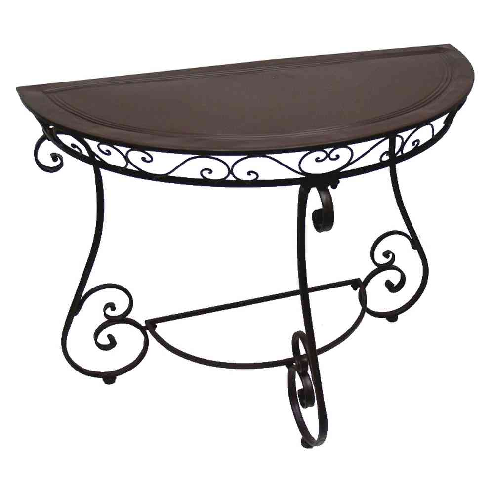 console table demi lune fer forge charme