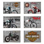 AFFICHE PLAQUE METAL MOTOS LEGENDAIRES 1