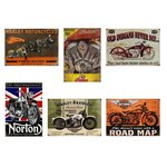 AFFICHE PLAQUE METAL MOTOS LEGENDAIRES 2
