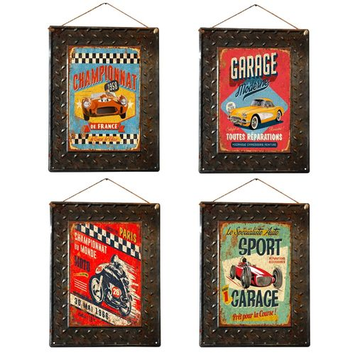 AFFICHE PLAQUE METAL GARAGE MECANIQUE RETRO